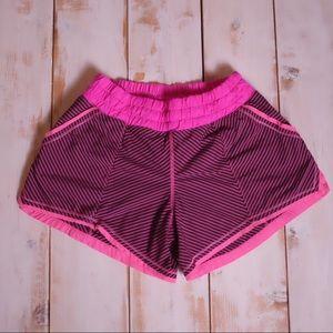 NWOT Pink & Purple Striped Lululemon Shorts